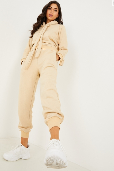 Stone Frill Hoodie & Joggers Set